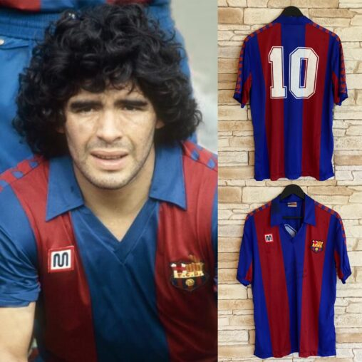 Match worn and signed shirt by Diego Armando Maradona FC Barcelona 1983/84