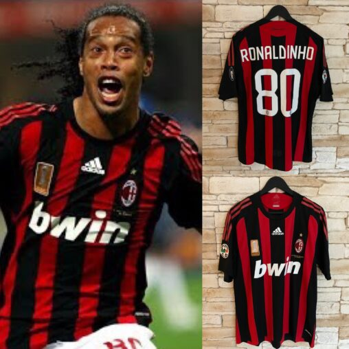 Ballon d'Or winner 2005 Ronadinho Match Worn AC Milan Shirt 2008/09